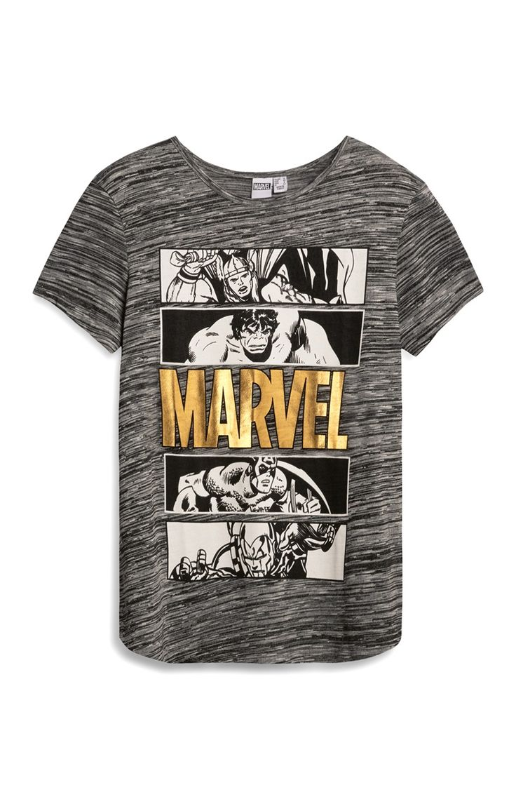 Primark - Grijs T-shirt met Marvel Avengers-print - Visit to grab an amazing super hero shirt now on sale!