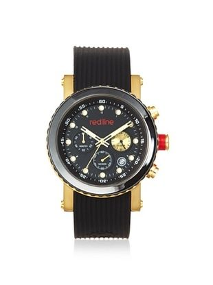 90% OFF red line Men's 18102-YG-01 Compressor Black/Gold Silicone Watch