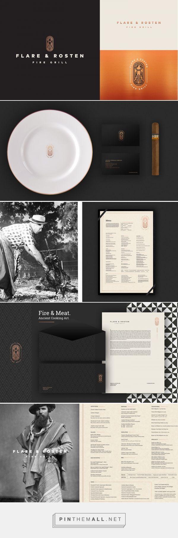 Flare & Rosten Fire Grill Restaurant Branding and Menu Design by Jaime Espinoza   Fivestar Branding Agency – Design and Branding Agency & Curated Inspiration Gallery