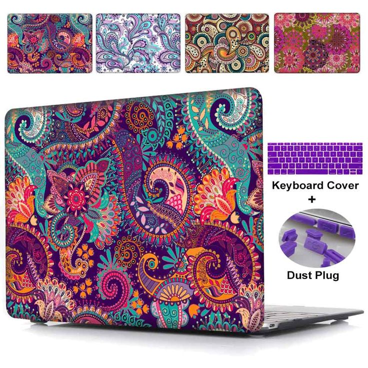 Laptop Case For Macbook Pro 13 15 Retina Case & Pro 13 15 Paisley pattern Crystal Hard Case For Apple Macbook Air 11 12 13 Cover