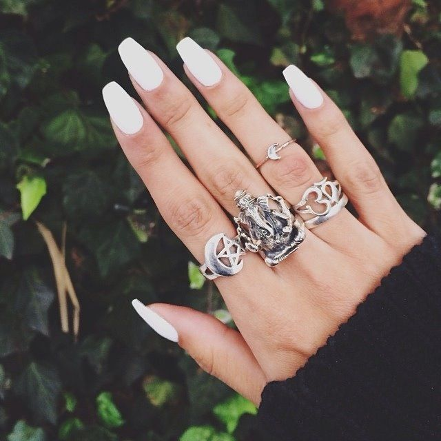 25 best ideas about long white nails on pinterest long Fashion style and nails facebook
