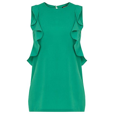 Buy Warehouse Woven Front Ruffle Shell Top Online at johnlewis.com