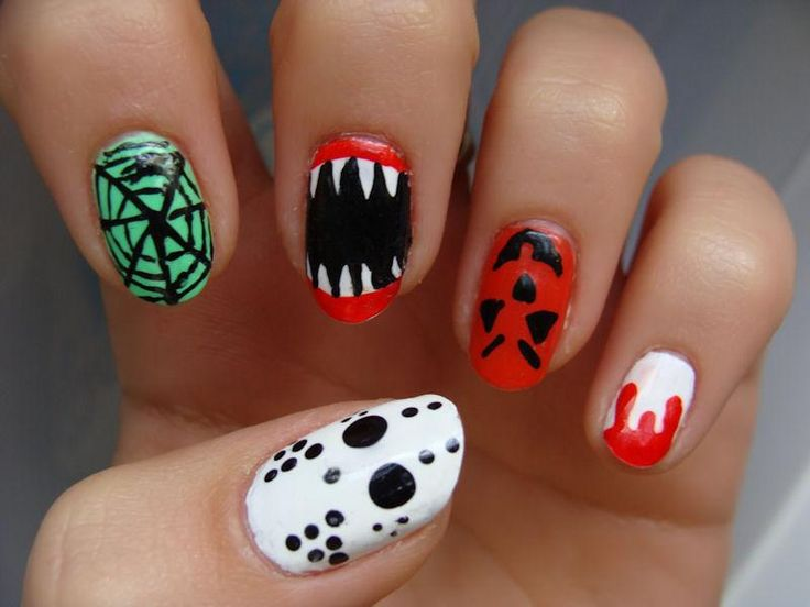 The 532 best diy halloween nails images on pinterest halloween diy halloween nails diy halloween nail art cool halloween nail designs solutioingenieria Image collections