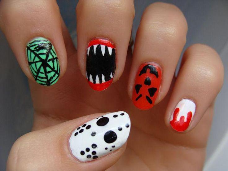 diy halloween nails diy halloween nail art cool halloween nail designs - Easy Halloween Designs For Nails