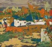 Walter Batiss | Impasto Landscape |