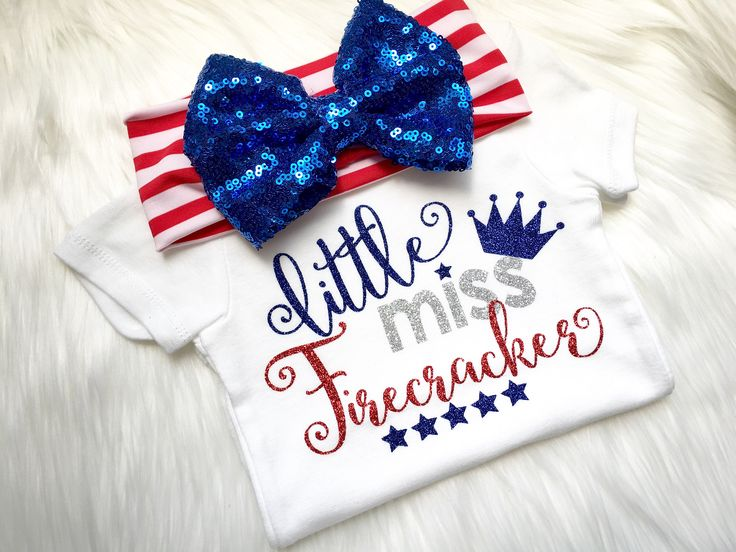 Little miss firecracker, Fourth of July, first 4th of july, little miss 4th of july, newborn, baby shower, new baby, fireworks, 4th of july by PerfectlyPINKBow on Etsy https://www.etsy.com/listing/524171512/little-miss-firecracker-fourth-of-july