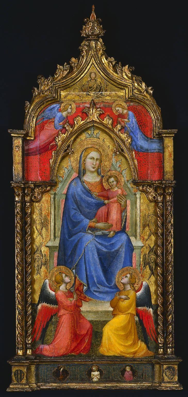 Спинелло Аретино. Мадонна с младенцем и ангелами. ок. 1405 г. Кливленд, Музей искусств.
