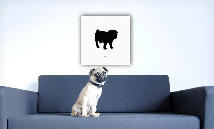 Groupon - $ 44.99 for a Dog Silhouette Canvas Print ($ 199 List Price). 15 Options Available. Free Shipping and Free Returns.. Groupon deal price: $44.99