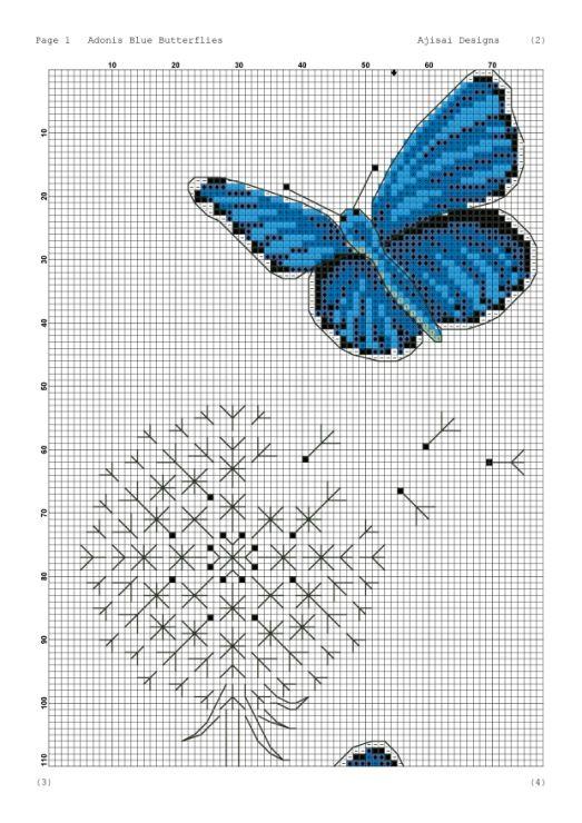 Gallery.ru / Фото #9 - Ajisai Designs - Adonis Blue Butterflies - tymannost