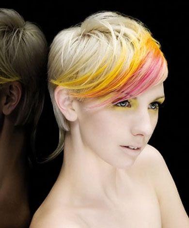 Chic Rainbow Hair Highlights