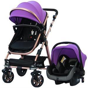 Yoyko Luxury Travel Sistem Bebek Arabası 3 İn 1 Mor