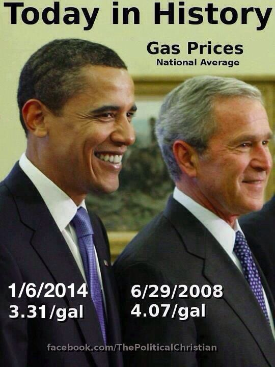 Geo Bush, highest US gas prices ever recorded. Amazing what happens when you cut domestic production and start two Middle East wars. I'm sure it has nothing to do with he being a oil man from Texas.