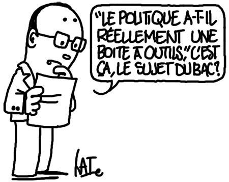 Sujet du bac philo http://undessinparjour.wordpress.com/2013/06/17/philo-du-bac/