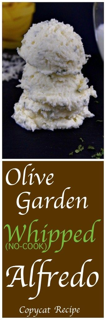 Olive Garden copycat Alfredo Sauce (Whipped, No-Cook Sauce)