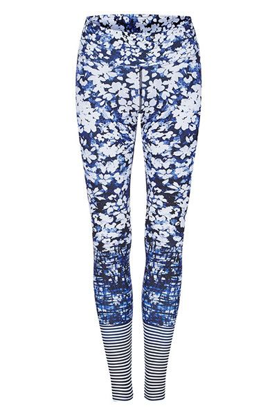Dharma Bums High Waist Full Length Legging - Daisy Blue