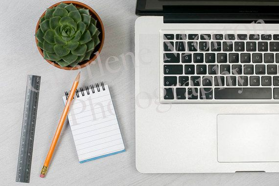 Work desk / Laptop / Office / Styled Stock by charlenemphotography