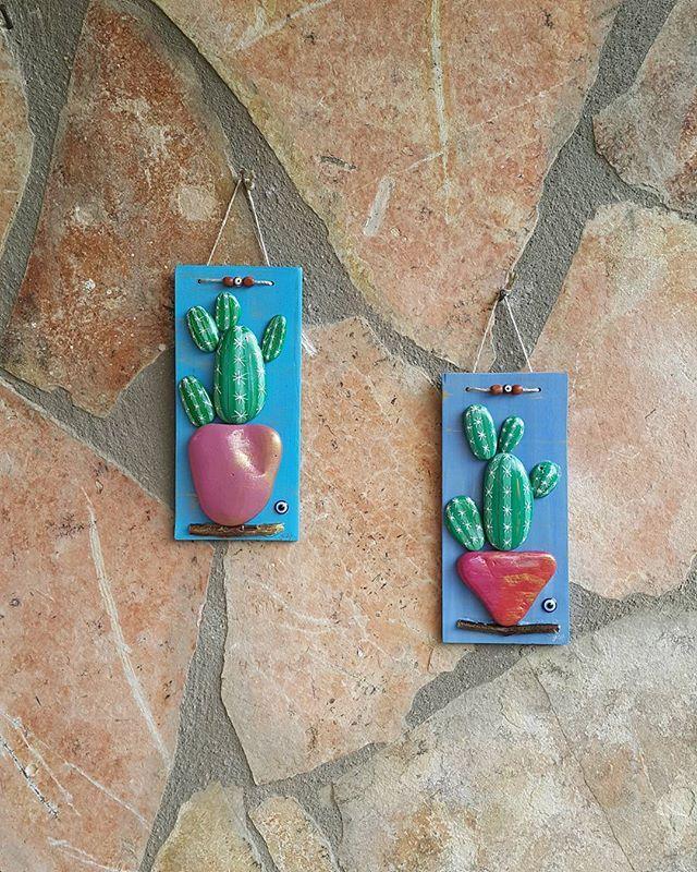 Mini mini kaktüsler Dubai'ye gitmişler #sevimlitaşlar  #stonepaintingart…