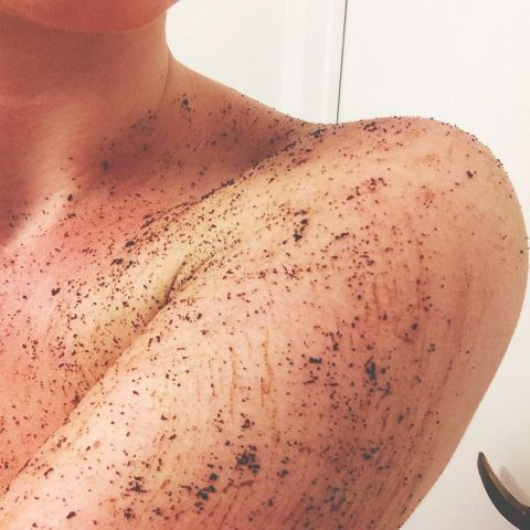 Get rid of stretch marks. How to Use a Body Scrub - Coffee Body Scrub Tips - Marie Claire