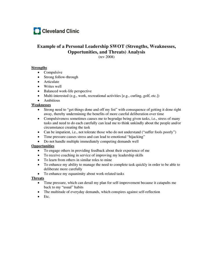 Más de 25 ideas únicas sobre Swot analysis examples en Pinterest - training needs assessment template