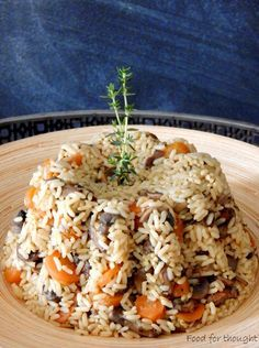 Food for thought: Πιλάφι φούρνου με λαχανικά κι ένα Σαββατοκύριακο σ...