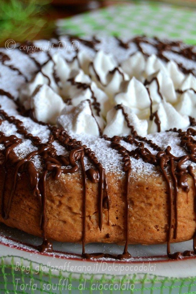 #Torta #souffle alla #nutella con #cuore alla #nocciola   #Ricette al #Cioccolato #Golose