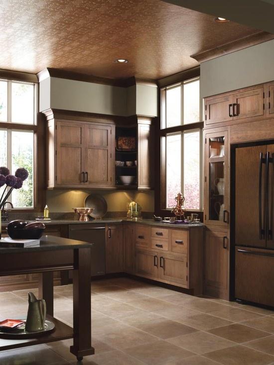 wood on wood kitchen
