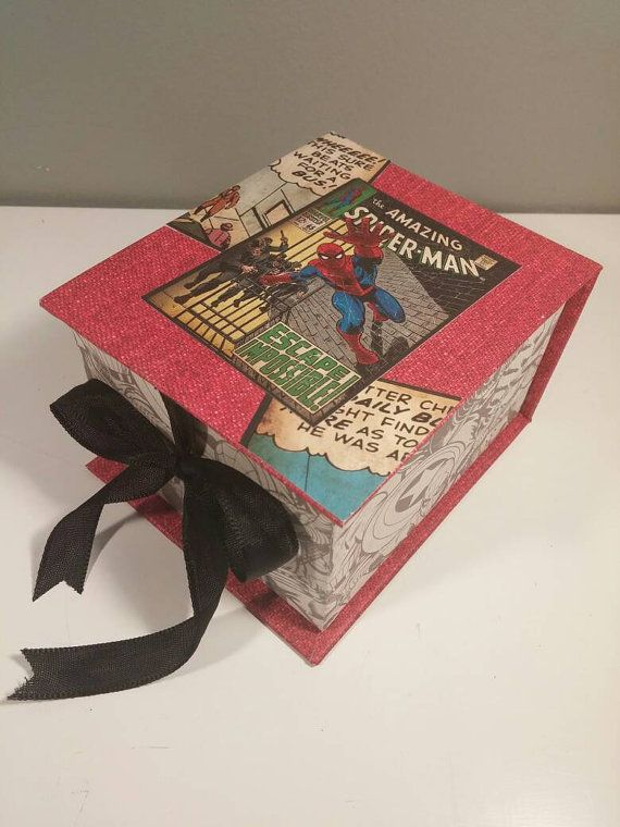 Hey, I found this really awesome Etsy listing at https://www.etsy.com/ca/listing/267315443/marvel-comics-spiderman-trinket-box
