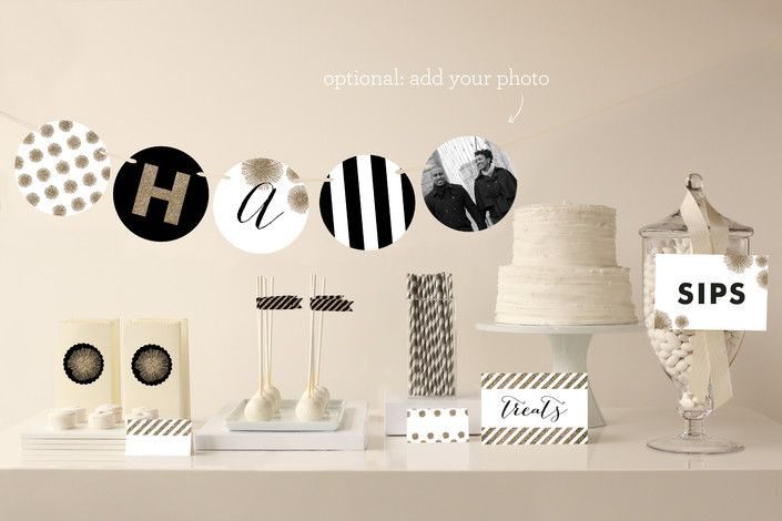 Sparkle Everywhere Party Decor - Perfect for a Graduation Party! Enter to WIN $500 to spend at Minted: http://www.thetomkatstudio.com/winminted/