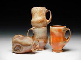 Tara Wilson mugs, North Carolina Potters Conference 2013, Randolph Arts Guild, Asheboro