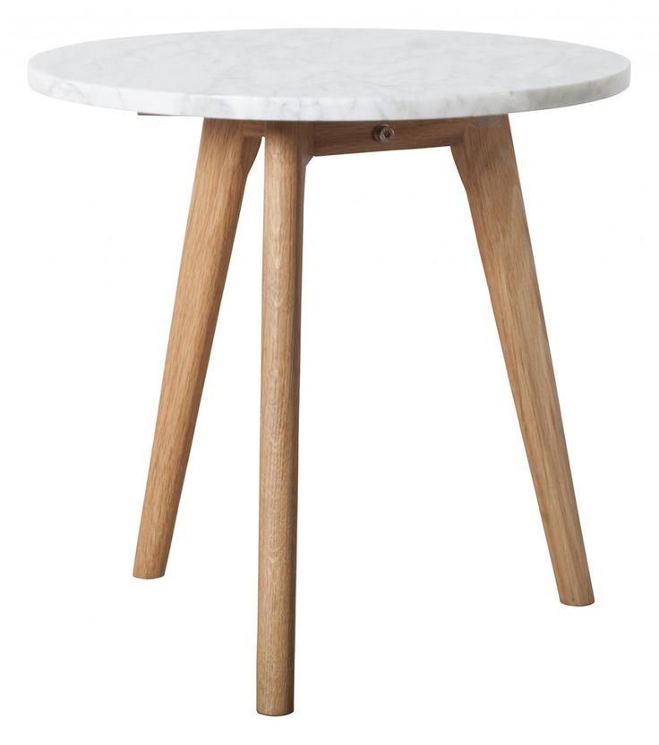 Zuiver White Stone tafel-40x40 cm (ø x H)