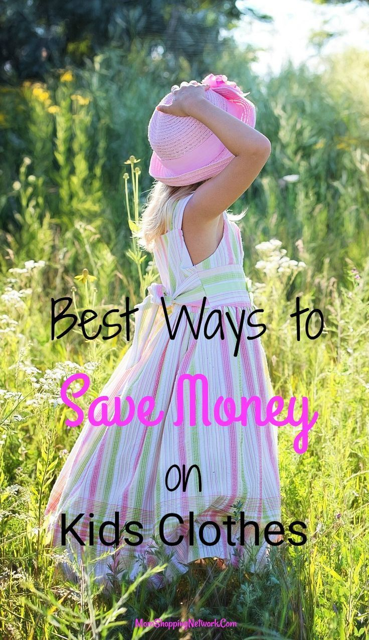 These are some of the best ways to save money on kids clothes that I've seen in awhile! Save Money|Kids Clothing|Back to School|Back to School shopping|Kids Clothes Shopping
