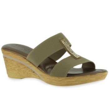 Tuscany by Easy Street Napoli Women's Slide Wedge Sandals