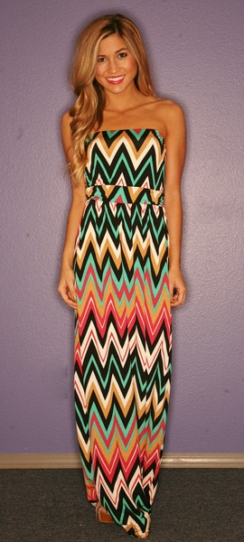 tribal. colorful maxi
