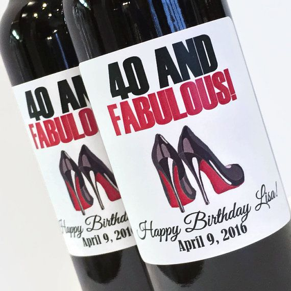 Louboutin 40 and Fabulous Birthday Mini Wine or by ZoeDeZigns