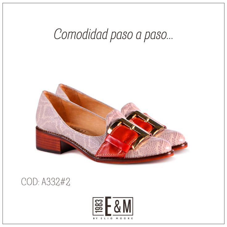 #zapatos #shoes #cuero #taco #anaranjado #serpiente #ByElioMoore