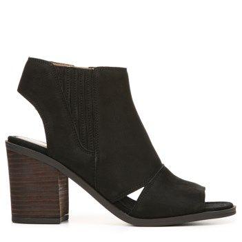 Franco Sarto Women's Galaxy Peep Toe Bootie Black Leather