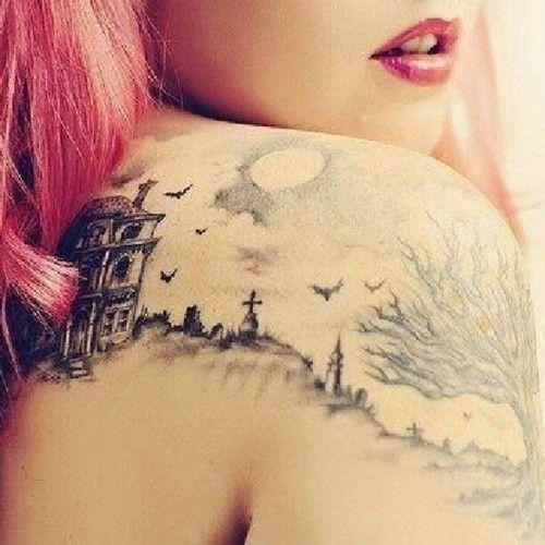 tatuagem de Halloween
