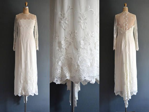 Jeannette / 80s wedding dress / 1980s wedding dress