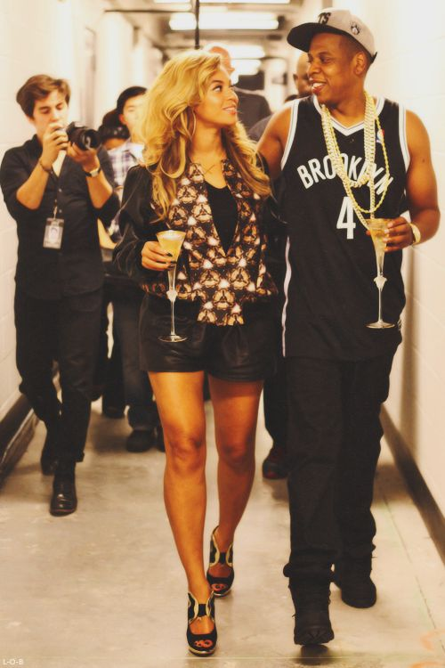 Beyoncé and Jay-Z --Beyonce is the pretty one.