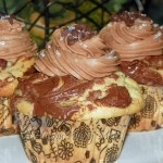 Nutella Cupcakes With Philly Cream Cheese Nutella Frosting!