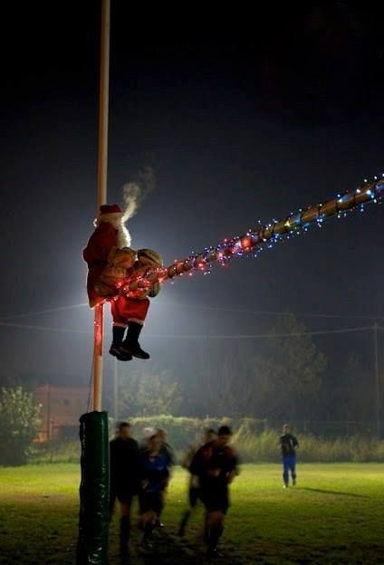 Santa and rugby...