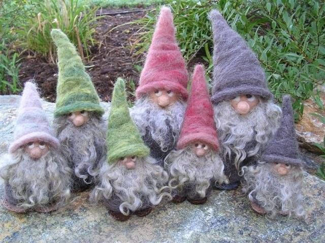 Gabriella Cervin will have her gorgeous woolen, hand felted gnomes at The People's Market! LOVE these little guys!