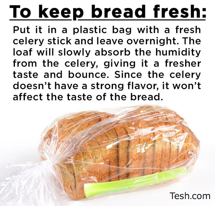 Tons of Tips on how to keep food fresh....such as keep bread fresh by putting a celery stalk in the bread bag.