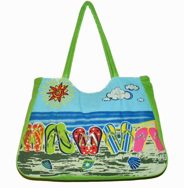 Green Flip Flops Beach Bag - The Handbag Hut - £9