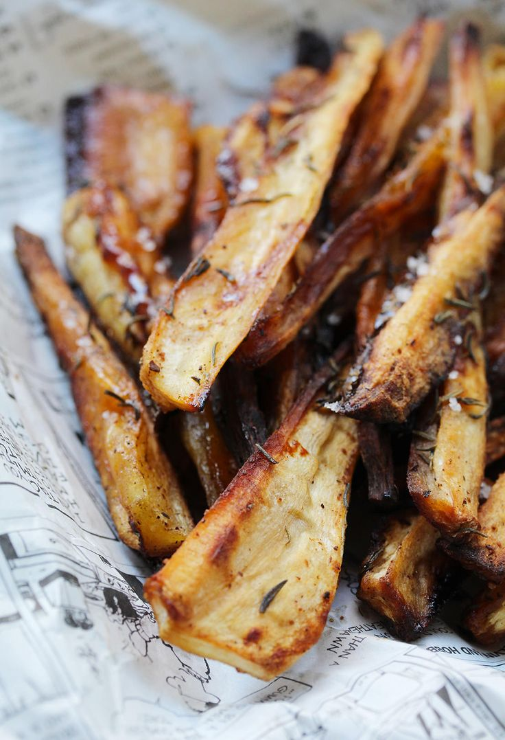 Thyme and Honey Parsnip  Fries
