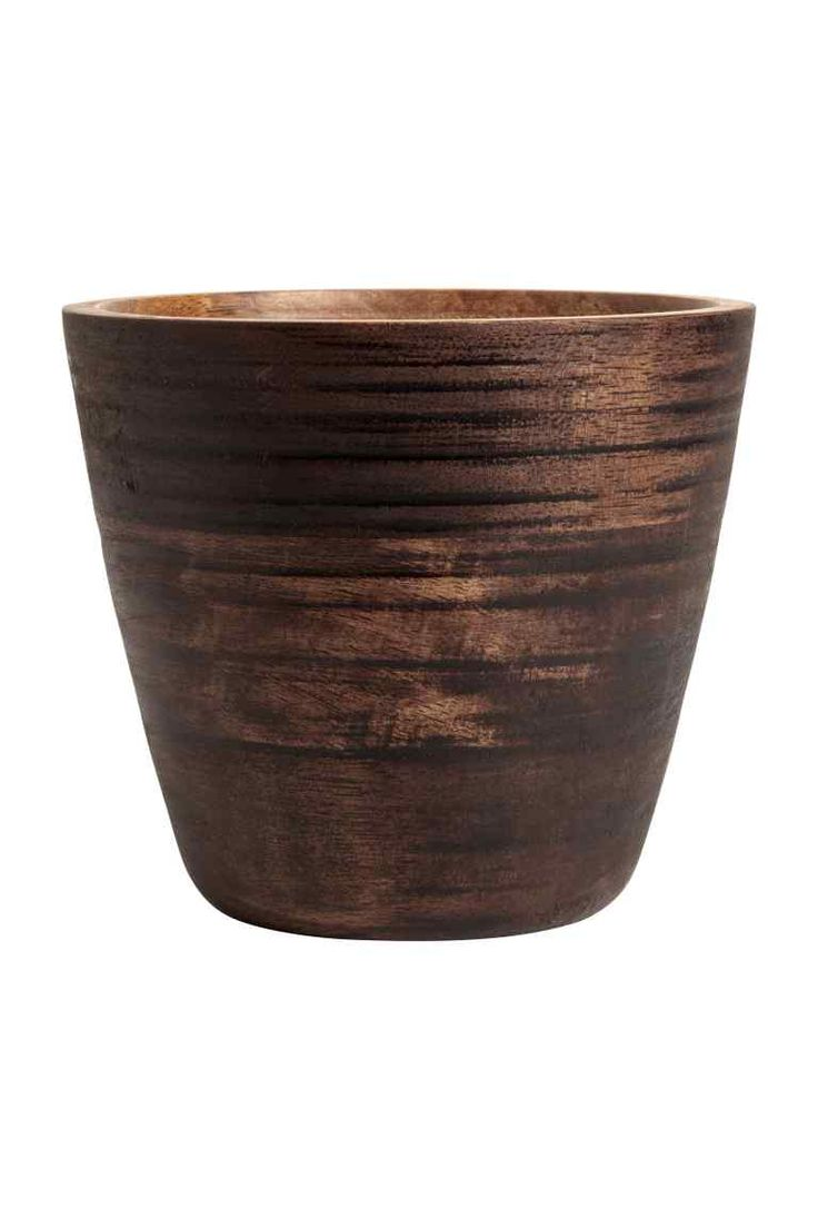Wooden plant pot - Dark brown - Home All | H&M GB 1