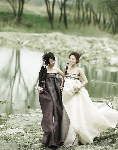 modern wedding hanbok