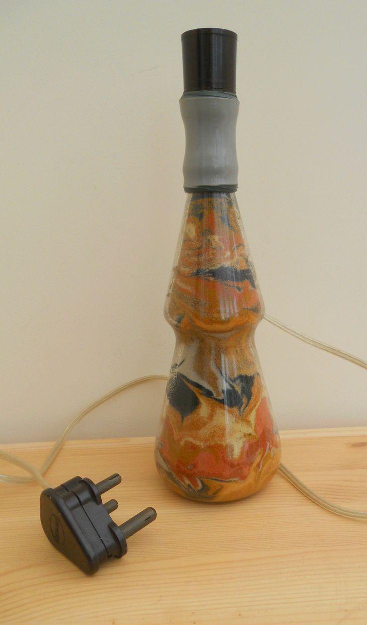 VINTAGE SAND ART TABLE LAMP ~ NOW ON MY EBAY SITE LUBBYDOT1