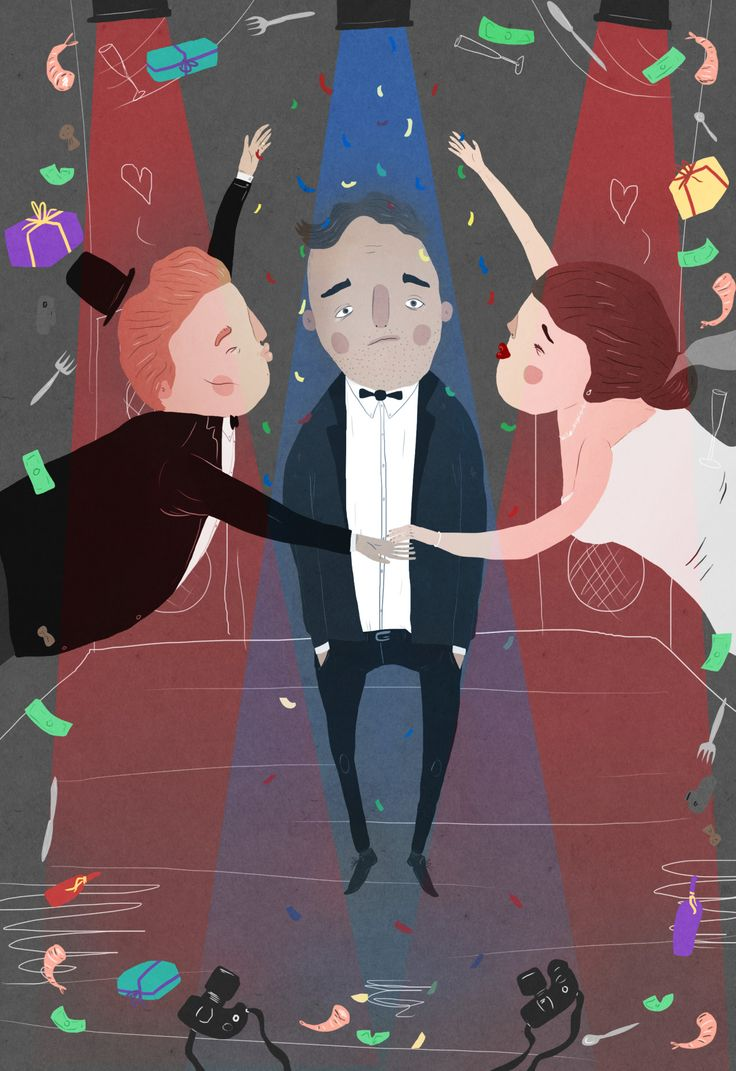 wishwelliams:  An illustration I did for an article by Bob Woolsey for Discorder magazine. It's about pre-wedding season dread and you can read it in May's issue of the magazine here.