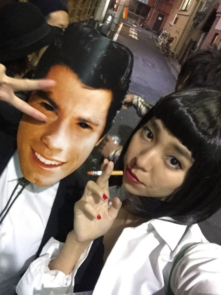 Halloween party in Tokyo Pulp fiction costume   #pulpfiction#MiaWallace